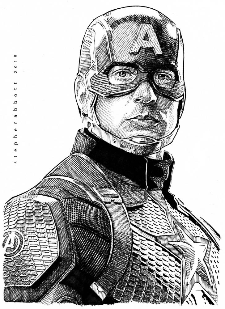 Captain America, Chris Evans by Stefanosart